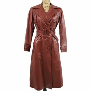 GENUINE LEATHER Vintage Jacket Burnt Brown Medium